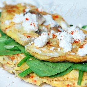 Sweet Potato Herb Goat Cheese Omelet