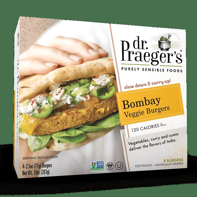 Bombay veggie burgers dr praeger 39 s sensible foods for Dr praeger s fish sticks