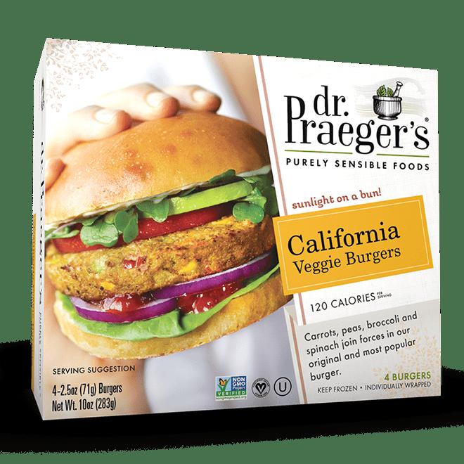 California veggie burgers dr praeger 39 s sensible foods for Dr praeger s fish sticks