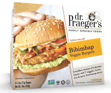 Product Image for Bibimbap Veggie Burgers above a title and link