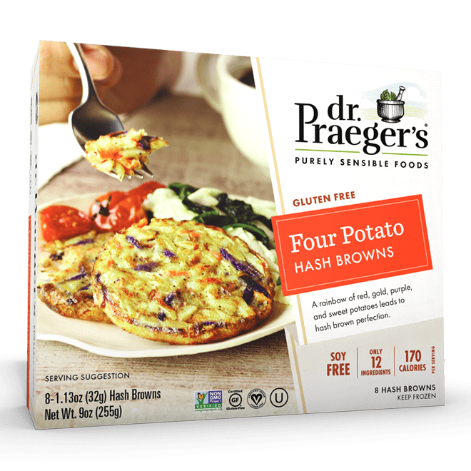 Dr. Praeger's Four Potato Hash Browns Package