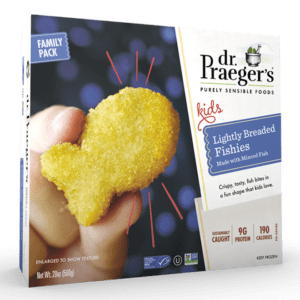 Dr. Praeger's Family Lightly Breaded Fishies Package