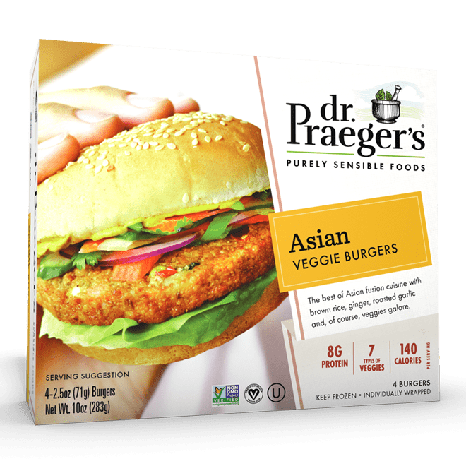 Dr. Praeger's Asian Veggie Burgers Package
