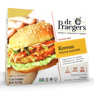 Dr. Praeger's Korean Veggie Burgers Package