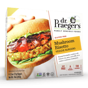 Dr. Praeger's Mushroom Risotto Veggie Burgers Package
