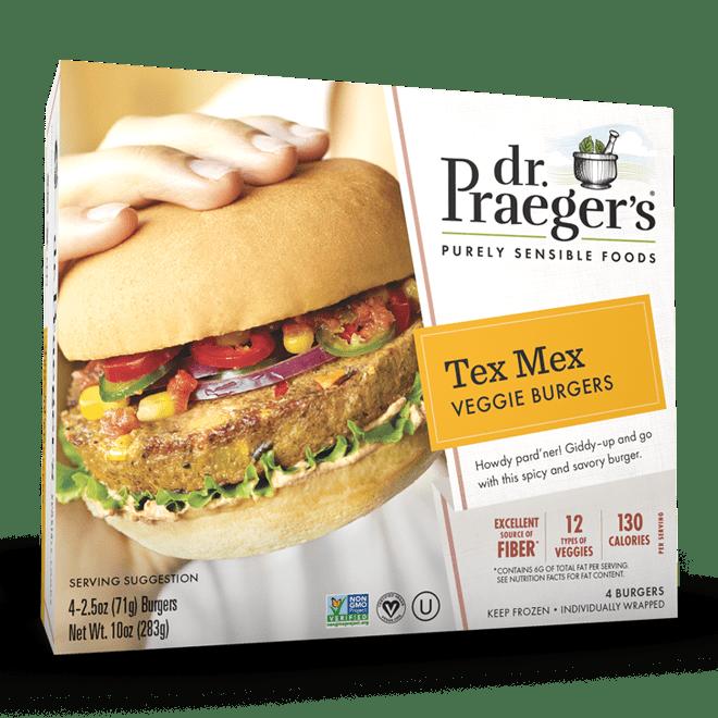Dr. Praeger's Tex Mex Veggie Burgers Package