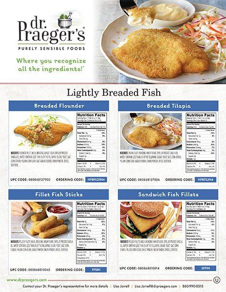 Dr Praeger's Food Service Fish