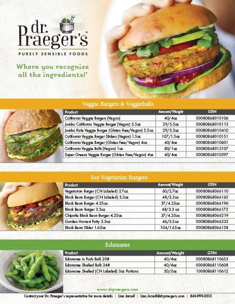 Dr Praeger's Food Service Full Line