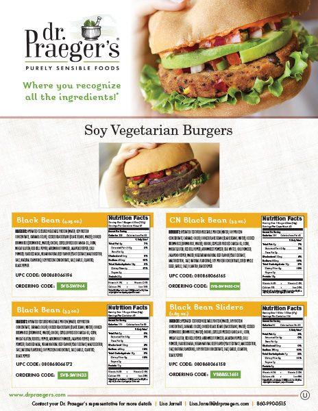 Dr Praeger's Food Service Soy Vegetarian Burgers