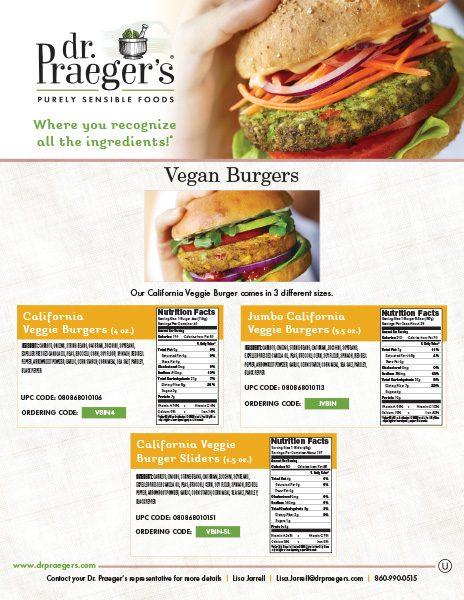 Dr Praeger's Food Service Vegan Burgers