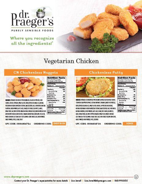 Dr Praeger's Food Service Vegetarian Chicken