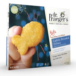 kids lightly breaded fishies from Dr. Praeger's