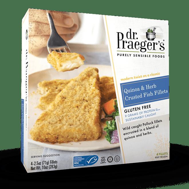 Quinoa Amp Herb Crusted Fish Fillets Dr Praeger S