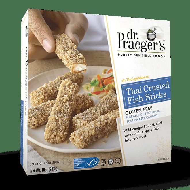 Thai crusted fish sticks dr praeger 39 s sensible foods for Dr praeger s fish sticks