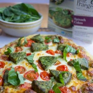 Dr. Praeger's Margarita Pizza with Spinach Cakes
