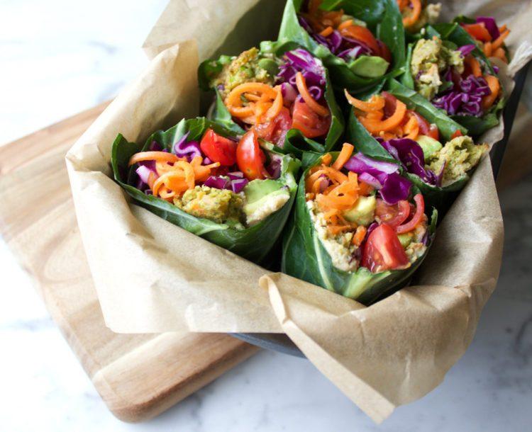 collard green wraps recipe from Dr. Praeger's