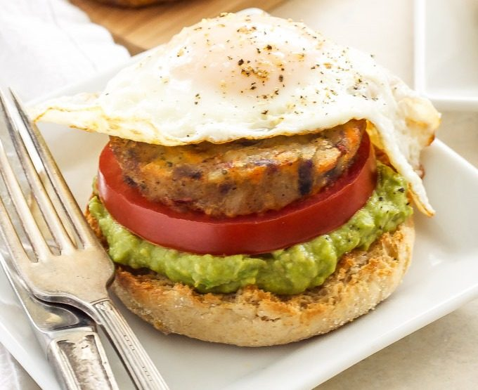 Dr. Praeger's Open Faced Egg, Avocado and Hash Brown Breakfast Sandwich