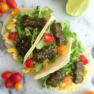 Dr. Praeger's Breakfast Tacos with Kale Littles