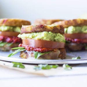 guacamole veggie burger from Dr. Praeger's