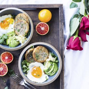 four potato breakfast bowls recipe from Dr. Praeger's