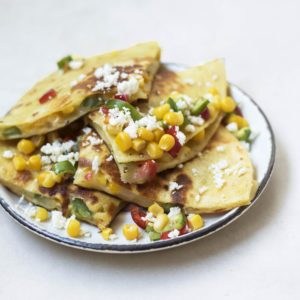 Corn quesadillas recipe from Dr. Praeger's