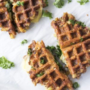 grilled cheese waffles recipe from Dr. Praeger's