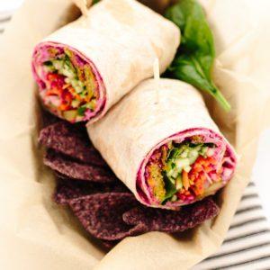 epic vegan rainbow veggie wrap recipe from Dr. Praeger's
