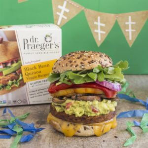 black bean quinoa burger hail mary recipe from Dr. Praeger's