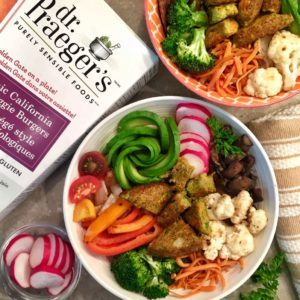 veggie burger bowl recipe from Dr. Praeger's