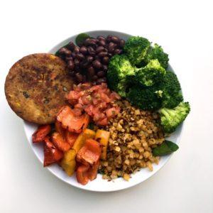 quinoa power bowl recipe from Dr. Praeger's