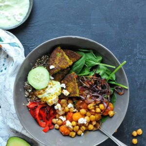 Curry Chickpea bowl recipe from Dr. Praeger's