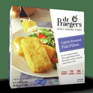 Dr. Praeger's Lightly Breaded Fish Fillets Package