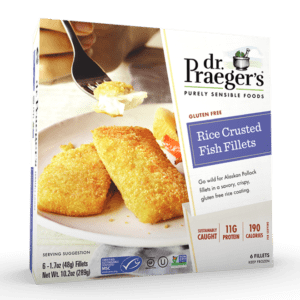 Dr. Praeger's Rice Crusted Fish Fillets Package