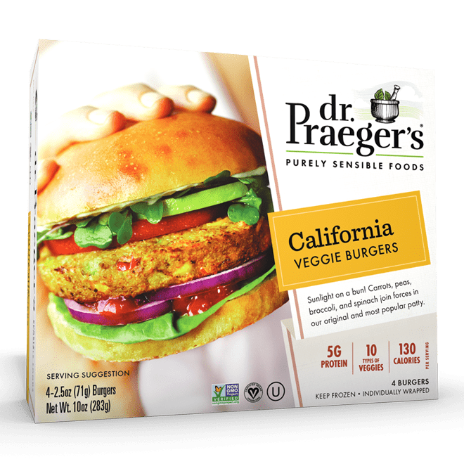 Dr. Praeger's California Veggie Burgers Package