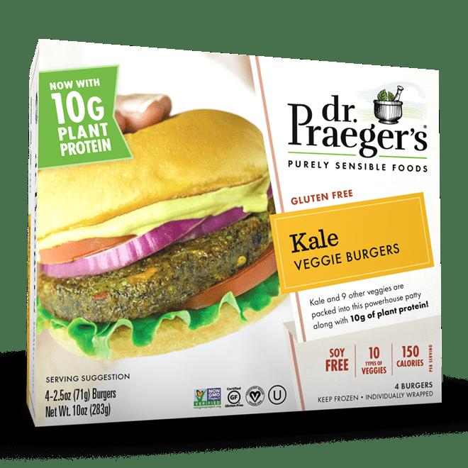 Dr. Praeger's Kale Veggie Burgers Package
