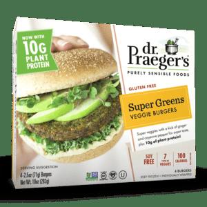 Dr. Praeger's Super Greens Veggie Burgers Package