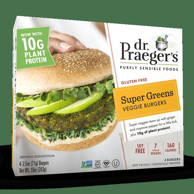 DrPraegers-VeggieBurgers-SuperGreens Package Image