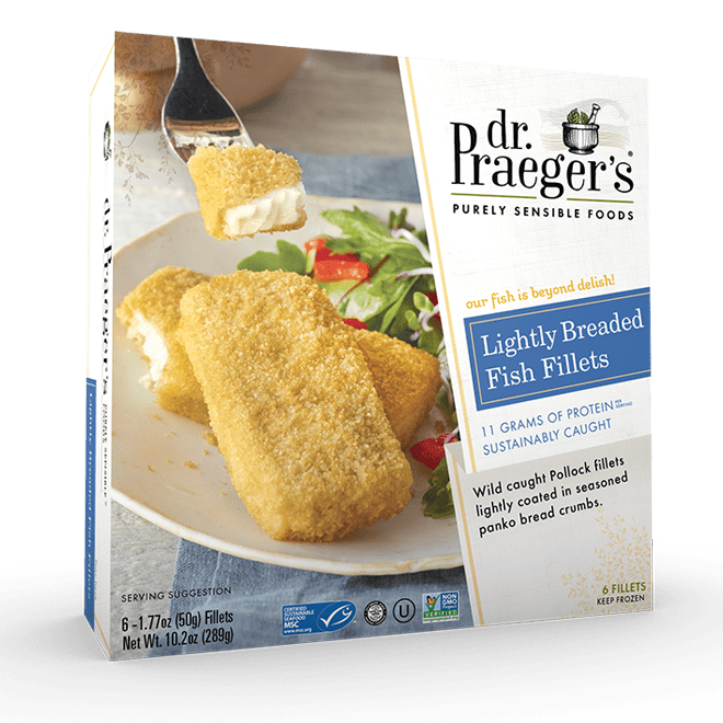 Dr Praeger's Lightly Breaded Fish Fillets