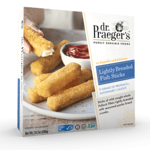 Dr Praeger's Lightly Breaded Fish Sticks