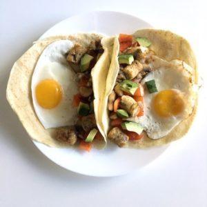 veggie breakfast tacos recipe from Dr. Praeger's