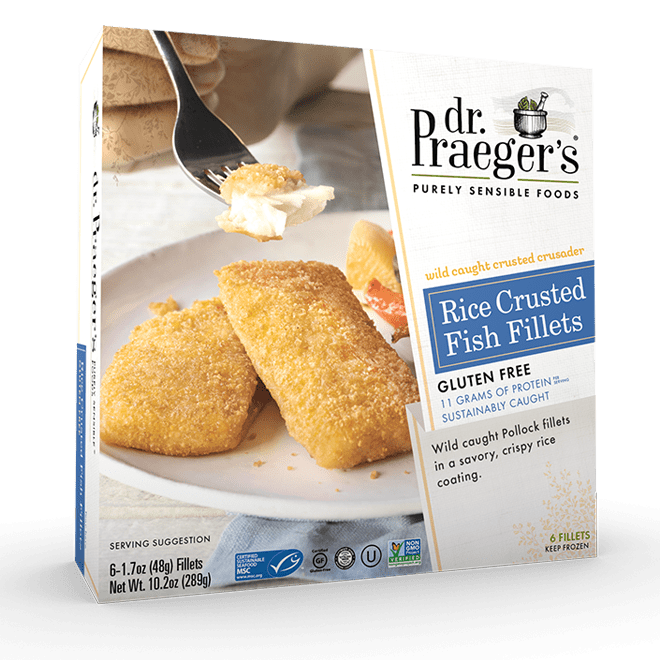 Dr Praegers Rice Crusted Fish Fillets