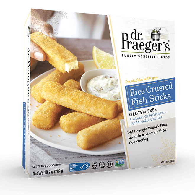 Dr Praeger's Rice Crusted Fish Sticks