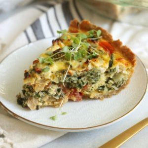 veggie quiche recipe from Dr. Praeger's