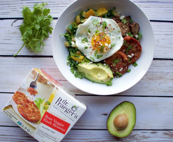 loaded breakfast bowl recipe from Dr. Praeger's