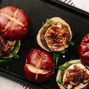 vegan mushroom risotto burger from Dr. Praeger's