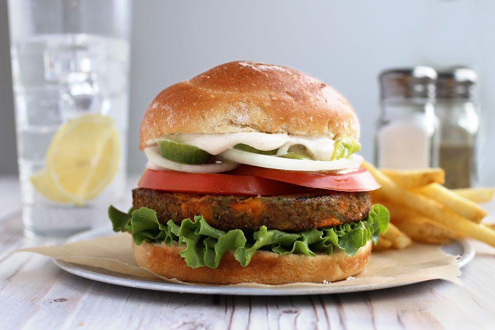 veggie burger from Dr. Praeger's