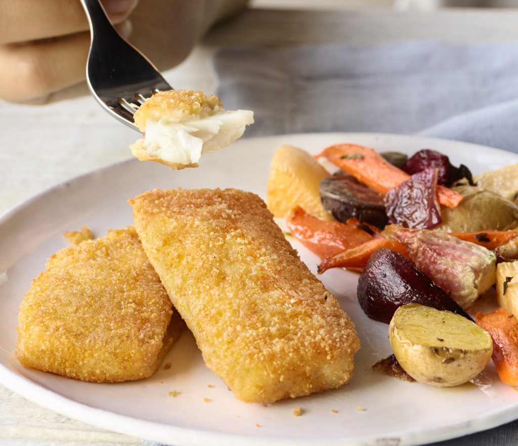 Rice crusted fish fillets dr praeger 39 s sensible foods for Breaded fish recipe