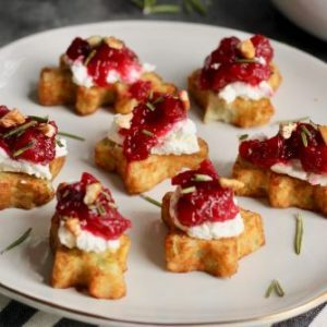 Cranberry Pecan Goat Cheese Bites recipe from Dr. Praeger's