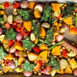 Spinach littles sheet pan meal recipe from Dr. Praeger's