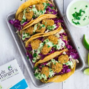 Dr. Praeger's Crispy Fish Tacos with Creamy Avocado Sauce